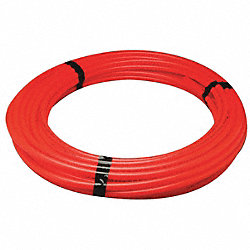 PEX Tubing, Red, 1/2In, 100Ft, 100psi
