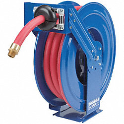 Hose Reel, Spring Return, 3/4In ID x 50Ft