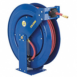 Hose Reel, Spring Return, 3/8In ID x 100Ft