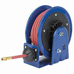Hose Reel, Spring Return, 1/4In ID x 25Ft