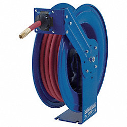 Hose Reel, Spring Return, 3/4In ID x 25Ft