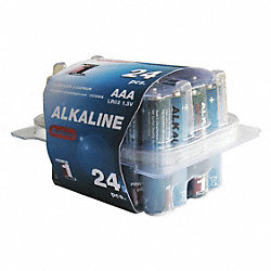 Battery, Alkaline, 1.5 V, AAA , PK 24