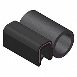Trim Seal, Alum Clip, 0.23 In W, 25 Ft