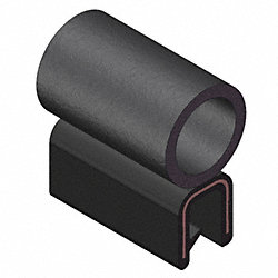 Trim Seal, Alum Clip, 0.26 In W, 25 Ft