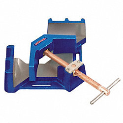 Angle Clamp, 90 Deg, Steel, 4-1/8 In Cap