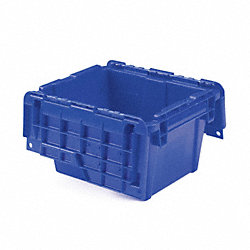 Attached-Lid Cont, 11-3/4x9-3/4x7-3/4, Blu