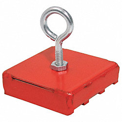 Retrieving Magnet, 2 x 2 In, 40 lb Pull