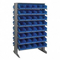 Pick Rack, 24Dx36Wx60H, 80 Blue Bins