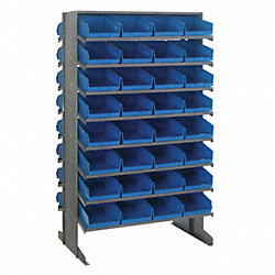 Pick Rack, 24Dx36Wx60H, 64 Blue Bins