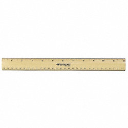 Ruler, 12 Inch, Rounded Bevel Wood Ruler