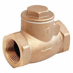 Swing Check Valve, 2-1/2In, FNPT, Bronze
