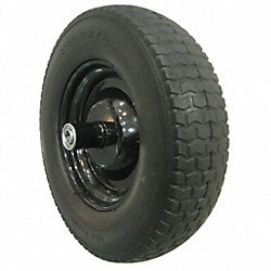 Wheelbarrow Tire, Knobby, 14-1/2 In. Dia.