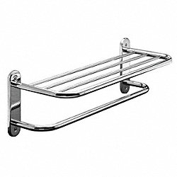 Towel Shelf, 24In, Polished SS