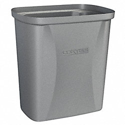 Waste Receptacle, Gray, 2.5 G