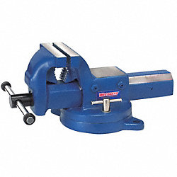 Bench Vise, Machinists, Swivel, 5 In