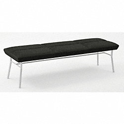 Bench, 3 Seat, Ebony Fabric
