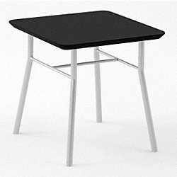 End Table, Black Finish, 20x20x20