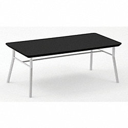 Coffee Table, Black Finish, 40x20x15-1/2