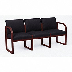 Sofa, 3 Seat, Mahogany Finish, Macro Fabric