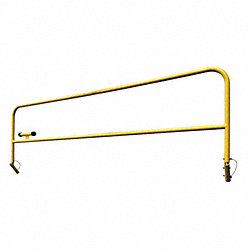 Collapsible Guardrail, 6 Ft. L, 3-1/2 ft H