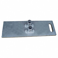 Guardrail System Base, 2-1/2 Ft. L, 5In. H