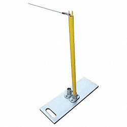 Single Stanchion, 40In. H, Yellow