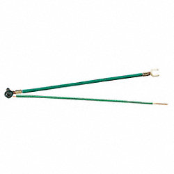 Grounding Tail, 2-Wire, Green, Pk500