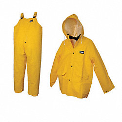 3 Piece Rainsuit w/Detach Hood, Ylw, 2XL