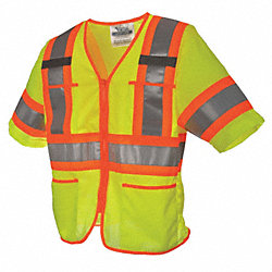 High Visibility Vest, Class 3, XL, Green