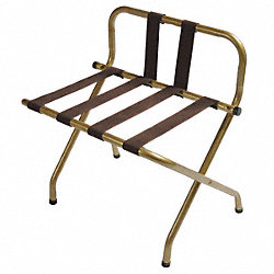 Luggage Rack, w/ High Back, Brasstone, PK6