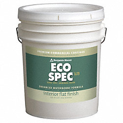 Interior Paint, Flat, 5 gal, Hush