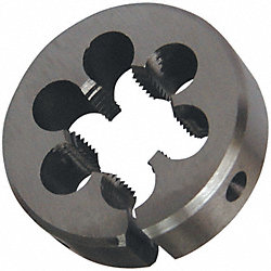 C.Steel Adj Thread Die1In, 1/4In, 20 Pitch
