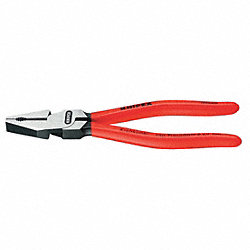 Combination Plier, High Leverage, 9 In, Red