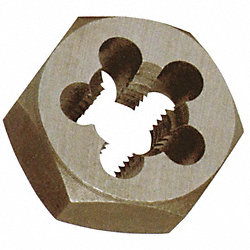 Hex Rethreading Die, Std1 1/2In, 6 Pitch