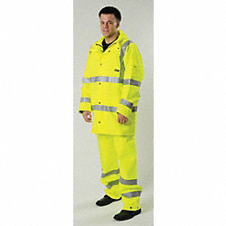 Rain Jacket, Hi-Vis Yellow, L