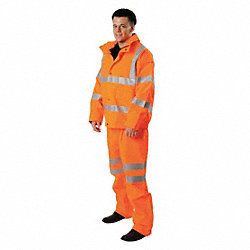 Rain Jacket, Hi-Vis Orange, XL
