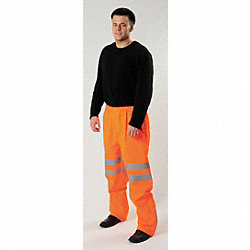 Hi-Vis Rain Pants, Hi-Vis Orange, XL