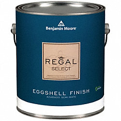 Interior Paint, Eggshell, 1 gal, White Dove