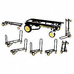 8-Way Convertible Cart, 30-3/4 In H, Black