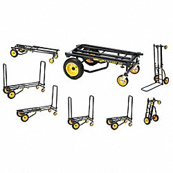 8-Way Convertible Cart, 40-1/2 In H, Black
