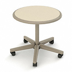 Tasking Table, Round, 24 In., Taupe