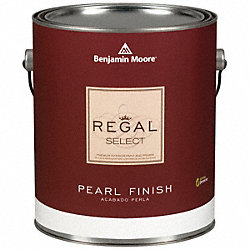 Interior Paint, Pearl, 1 gal, Clinton Brown