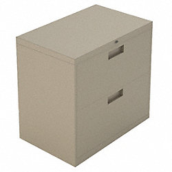 Lateral File, 2-Drawer, S-Handle, Taupe