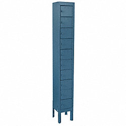 Cell Phone Locker, 1 Wide, 10 High, Blue