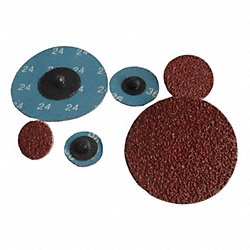Cloth Disc, 3 In D, 320 Grit, PK25