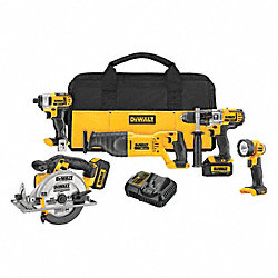 Cordless Combination Kit, Li-Ion, 20.0V