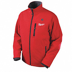 Heated Jacket, No Insulation, Red, S