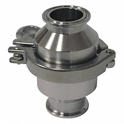 Spring Check Valve, 1/2In, Clamp, SS, 145psi