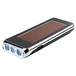 Flashlight, LED, Solar/Manual Power