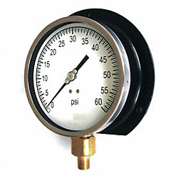 Vacuum Gauge, Process, 4 1/2 In, 30 In Hg-0